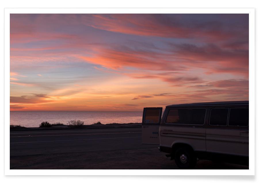 Cali Sunset Photograph Poster