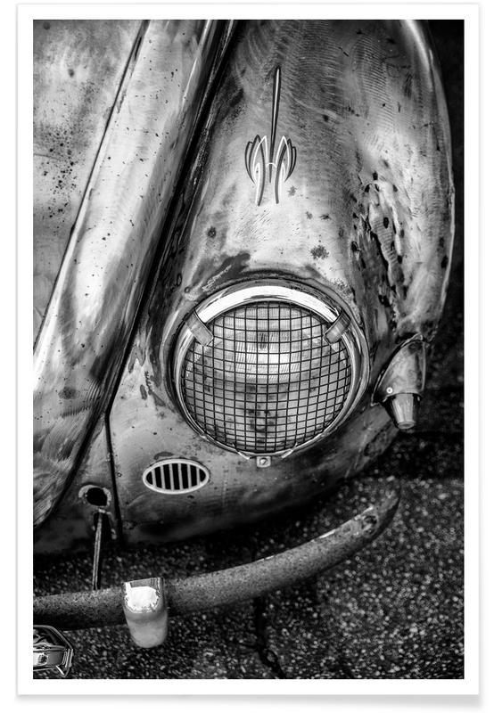 Noir & blanc, Voitures, Silver Beetle affiche