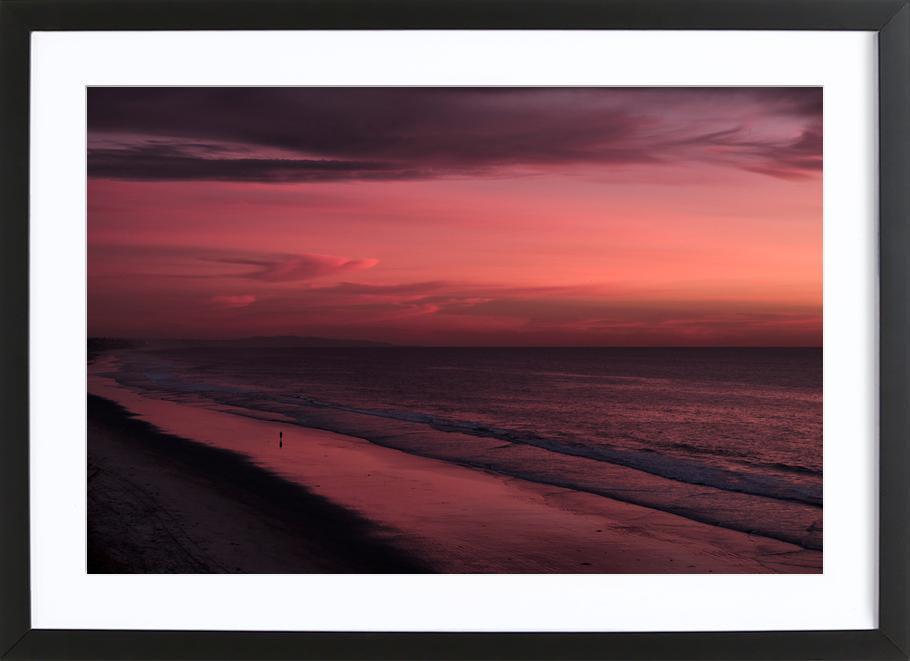 Sunset Walker Framed Print