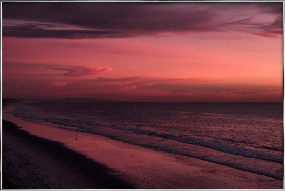 Sunset Walker -Poster im Alurahmen