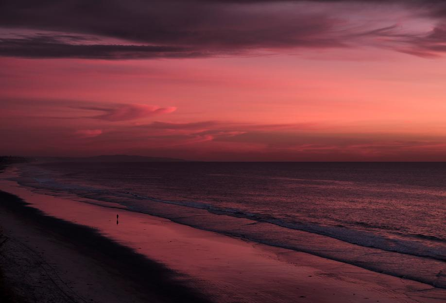 Sunset Walker Acrylic Print