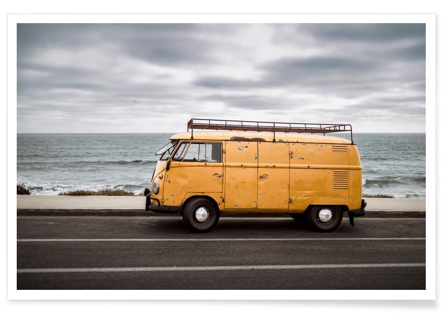 Wolfsburg Surf Yellow Poster