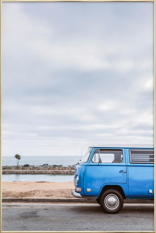 Blue Lagoon Poster in Aluminium Frame