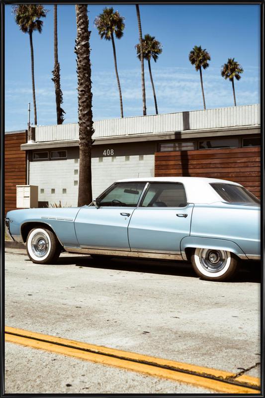Buick Blue -Bild mit Kunststoffrahmen