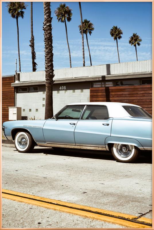Buick Blue affiche sous cadre en aluminium