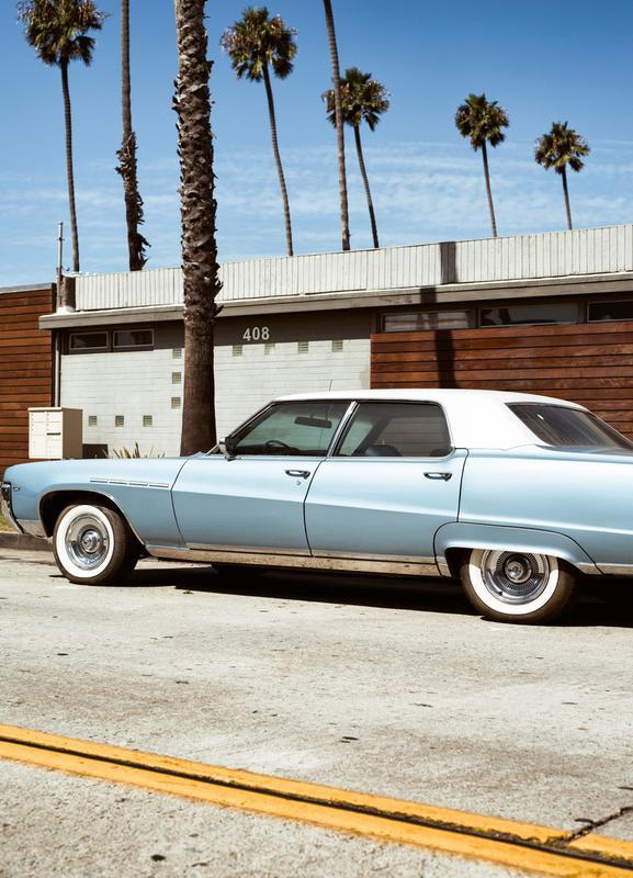 Buick Blue canvas doek