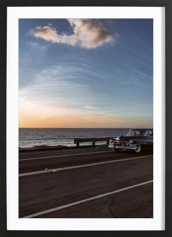 Cadillac Sunset Cruise I ingelijste print