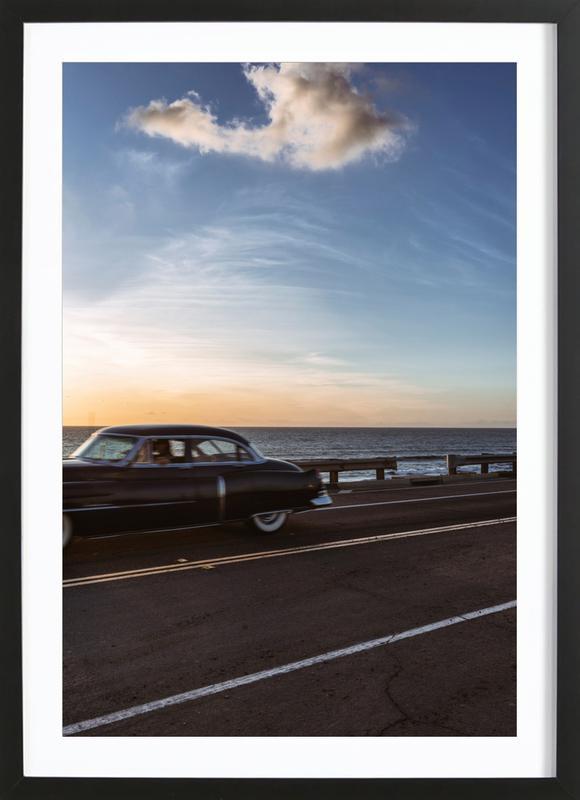 Cadillac Sunset Cruise II ingelijste print