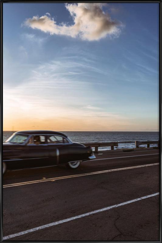 Cadillac Sunset Cruise II ingelijste poster
