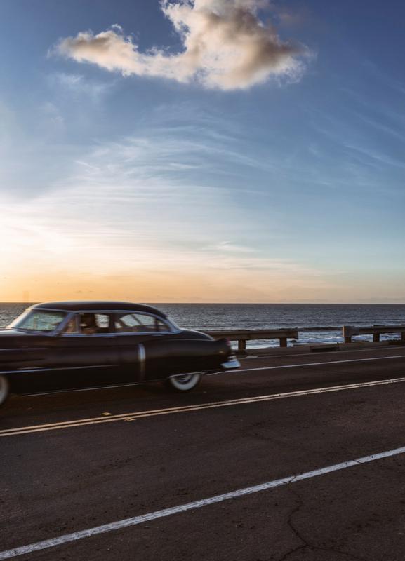 Cadillac Sunset Cruise II Canvas Print