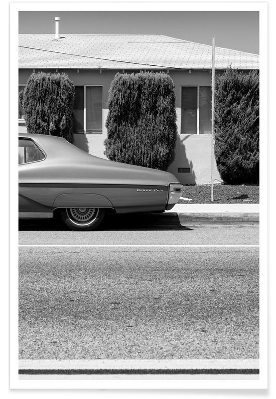 Voitures, Noir & blanc, Détails architecturaux, Grand Prix affiche