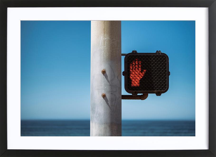 Don't Stop! affiche sous cadre en bois