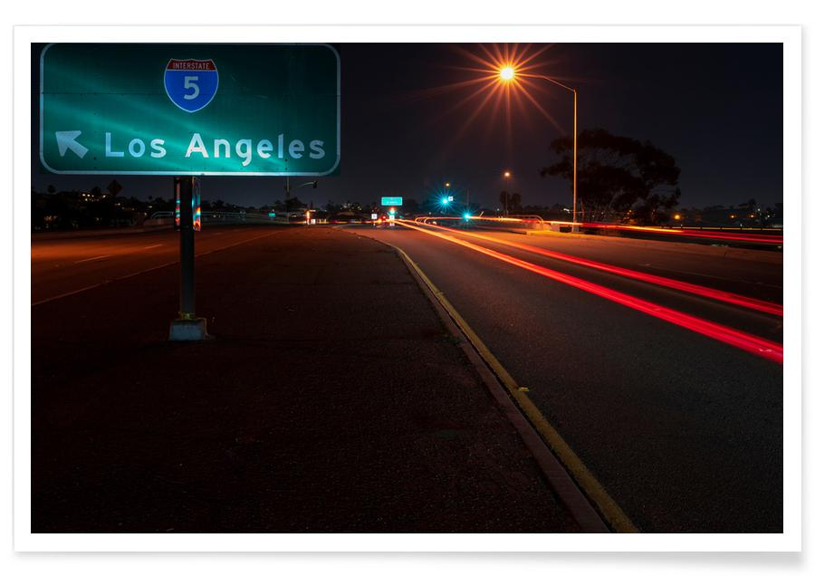 Los Angeles, I Am Going to LA and Become a Star Poster