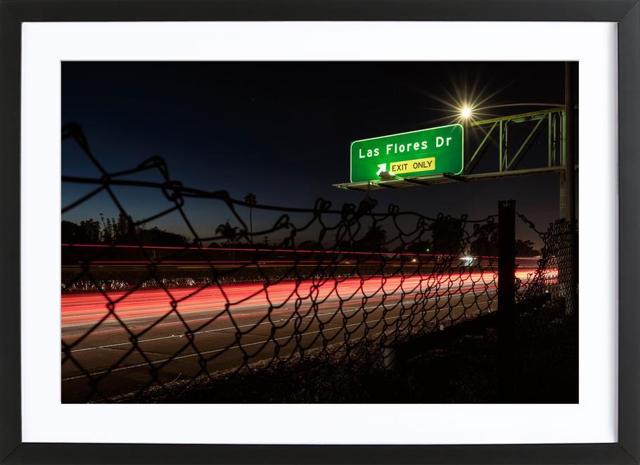 Interstate 5 Sunset ingelijste print