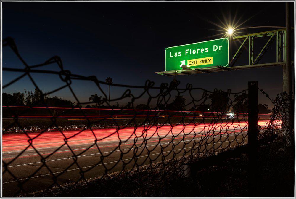 Interstate 5 Sunset poster in aluminium lijst