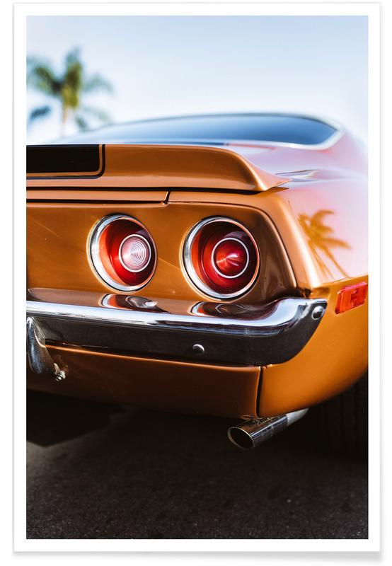 Camaro Lights Photograph Poster