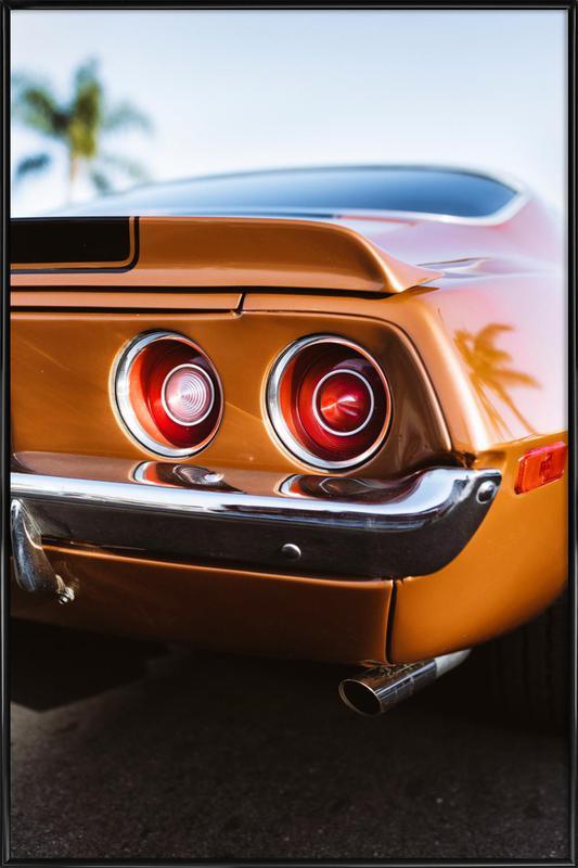 LA Camaro Framed Poster