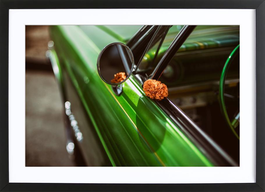 Lowrider Marigold -Bild mit Holzrahmen