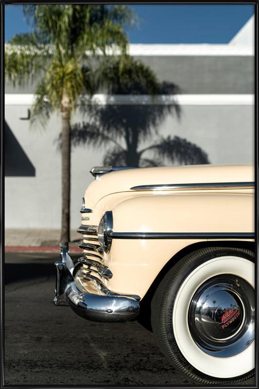 San Diego Plymouth ingelijste poster