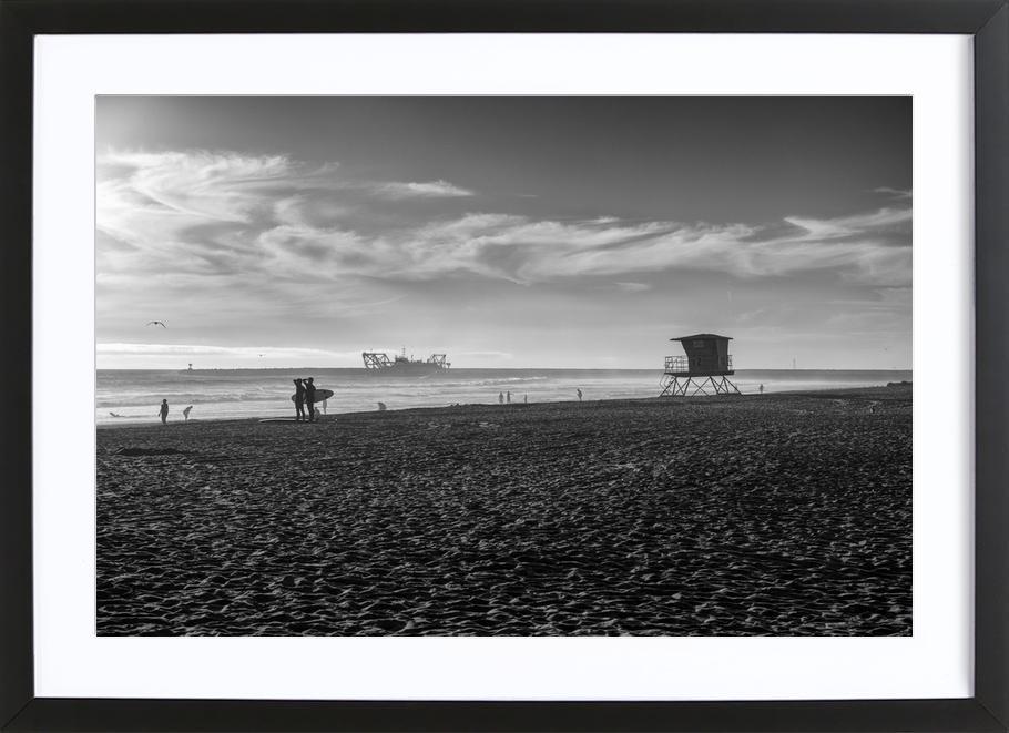 San Diego Surf Framed Print