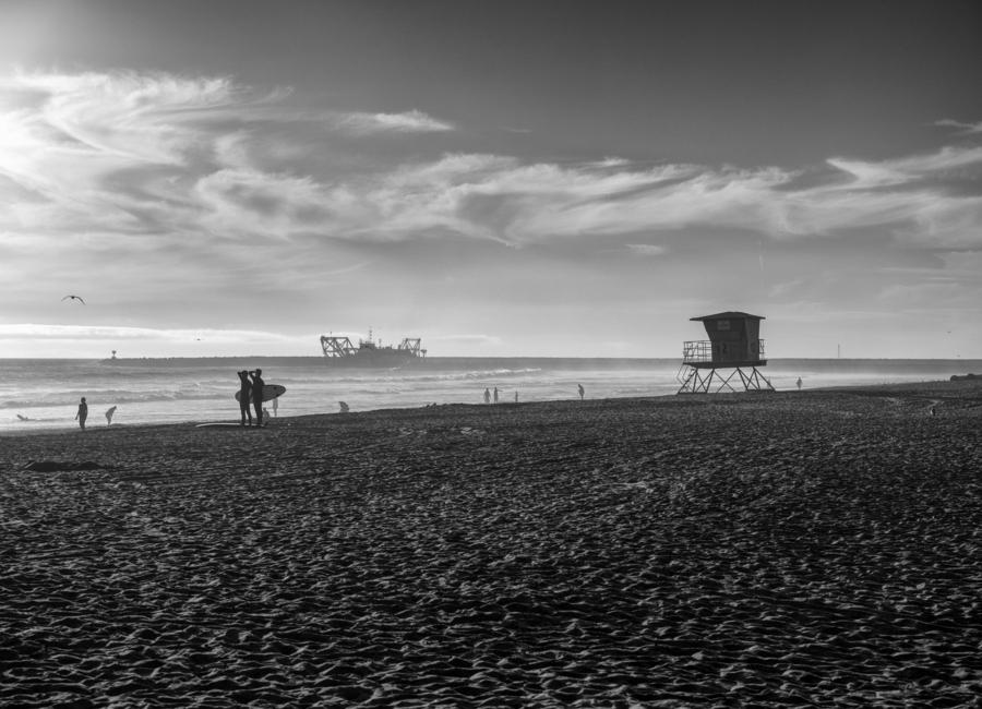 San Diego Surf -Leinwandbild