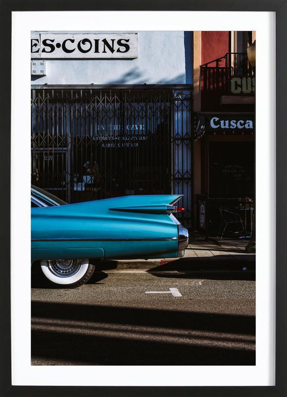 Turquoise Fins ingelijste print