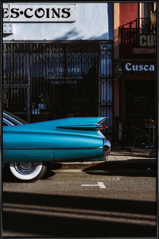 Turquoise Fins ingelijste poster