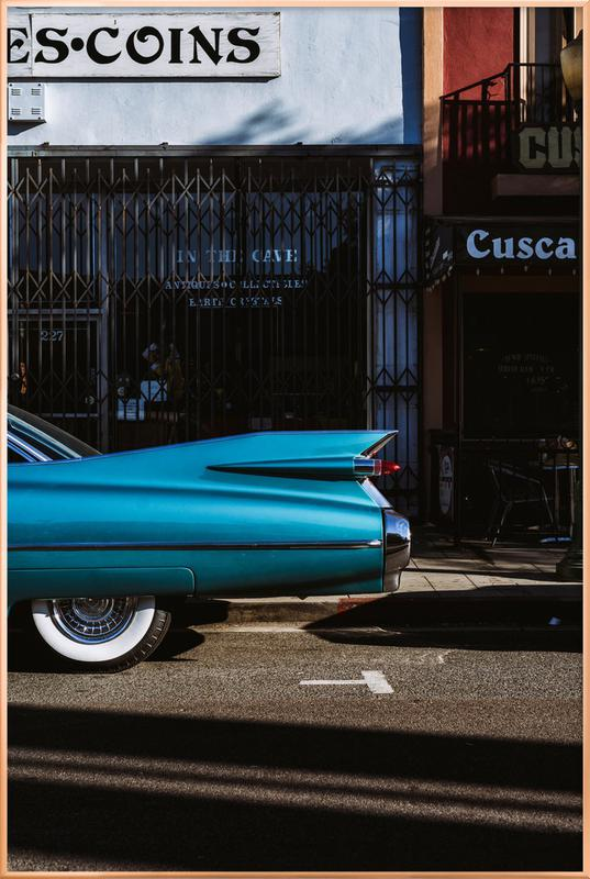 Turquoise Fins -Poster im Alurahmen