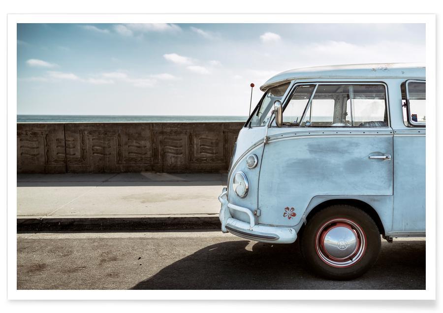 Auto's, Reizen, Wolfsburg Surf Blue Horizon poster