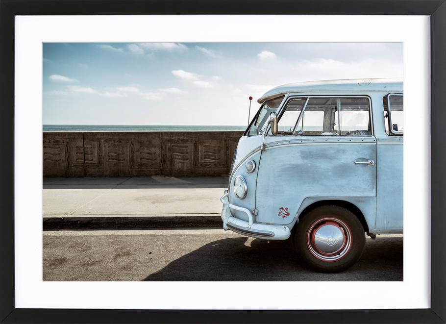 Wolfsburg Surf Blue Horizon ingelijste print