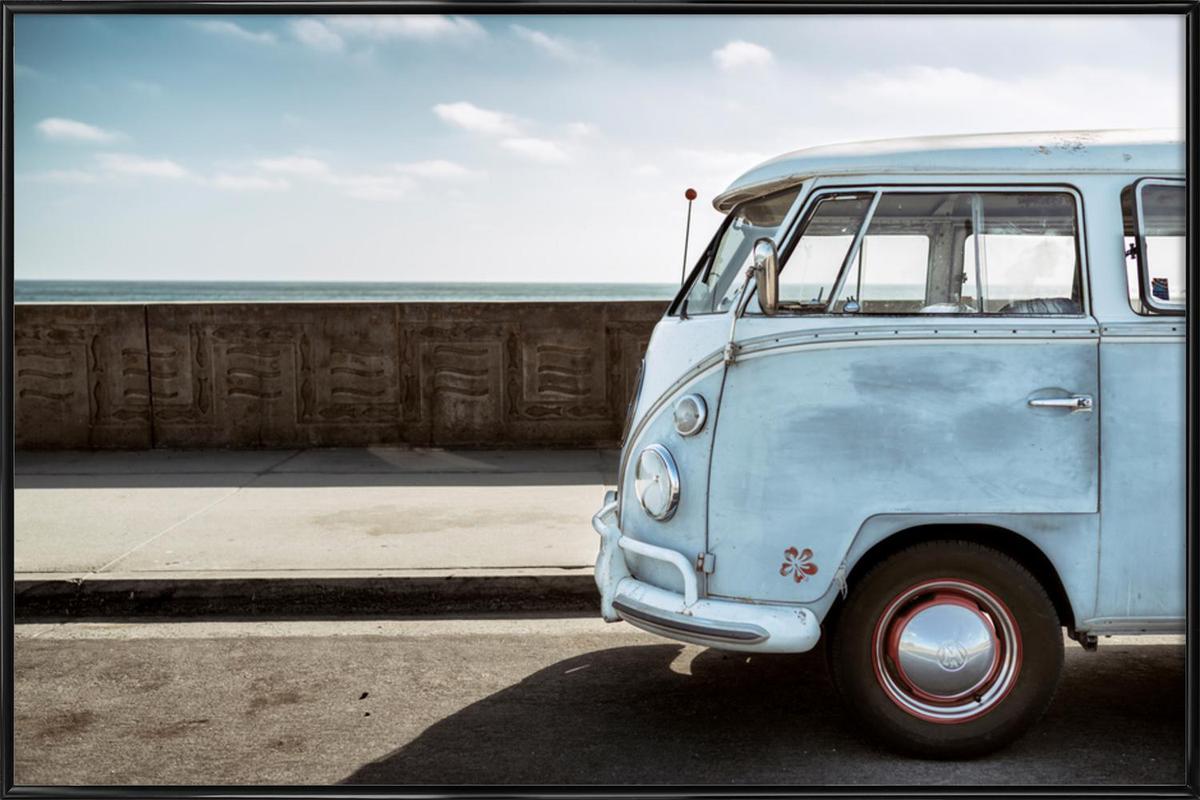 Wolfsburg Surf Blue Horizon ingelijste poster