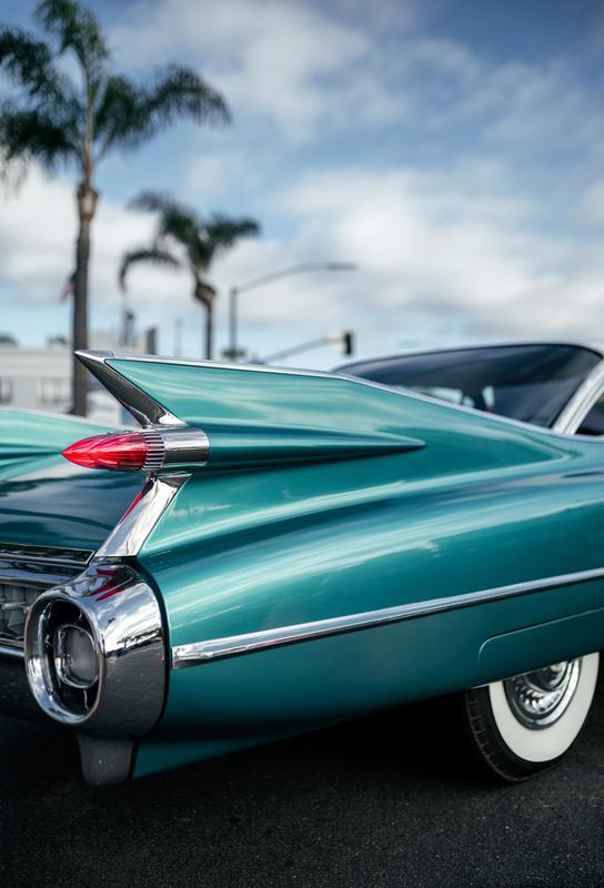 Cadillac Queen tableau en verre