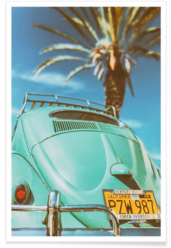 California Turquoise affiche