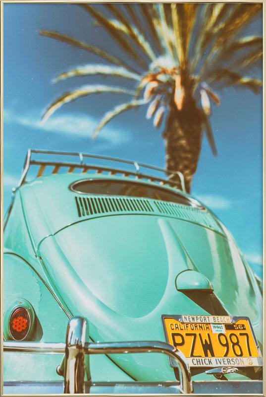 California Turquoise affiche sous cadre en aluminium