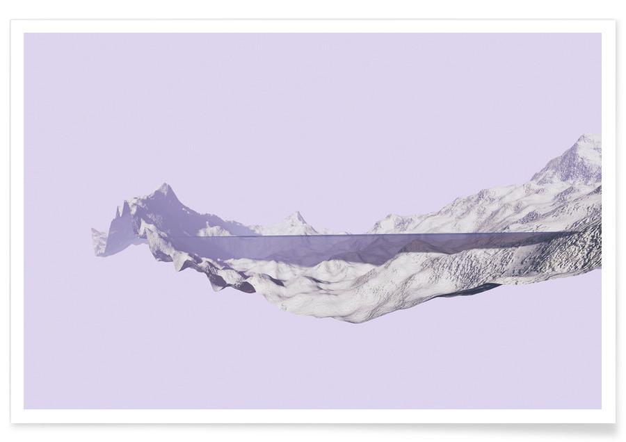 Abstracte landschappen, Mountains 2 poster