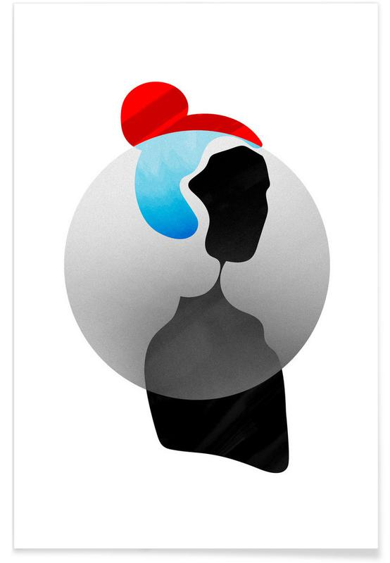 , Abstract Girl Poster