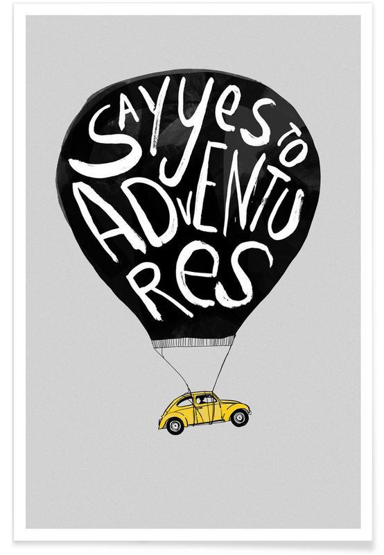 Cars, Motivational, Nursery & Art for Kids, Adventure Poster