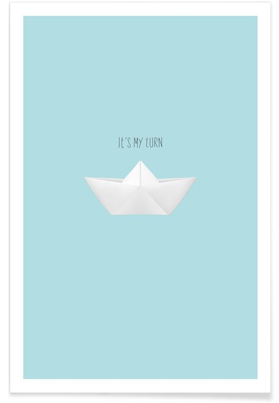Boats, Turn Poster