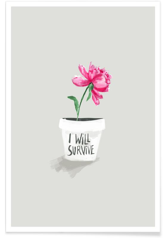 Motivational, Funny, Survive Poster