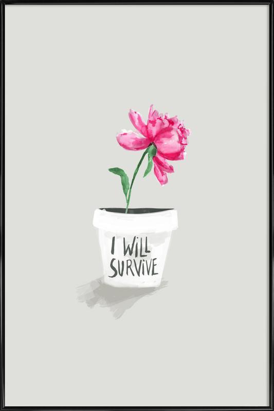 Survive ingelijste poster