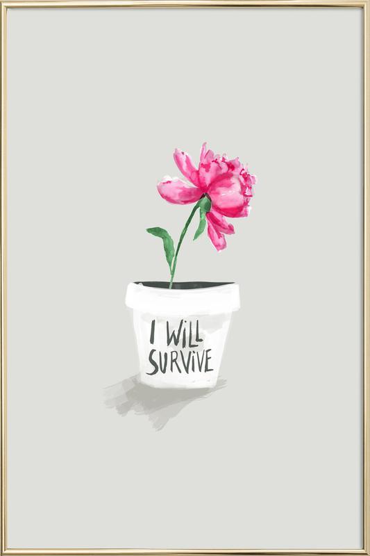 Survive Poster in Aluminium Frame