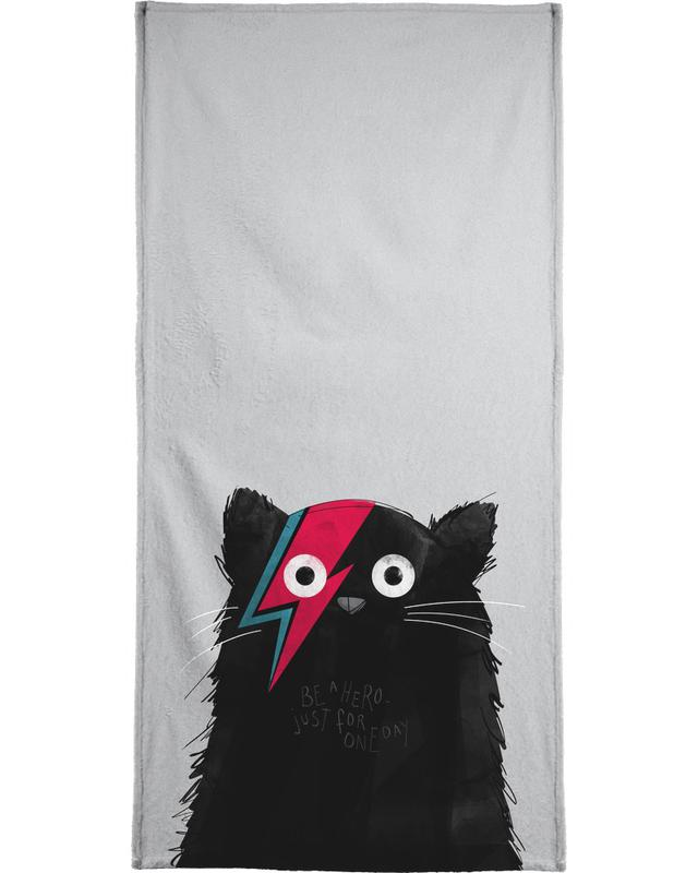 Cat Hero Beach Towel