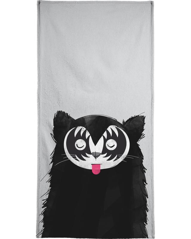 Cat Rock On Beach Towel