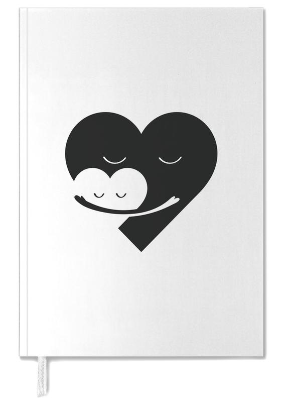 Schwarz & Weiß, Herzen, Muttertag, Heart Hug -Terminplaner