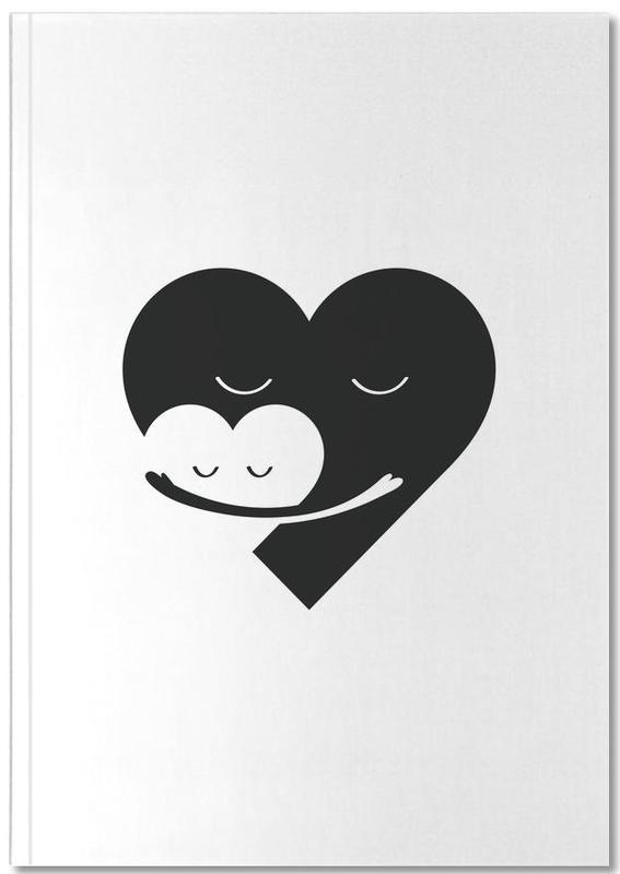 Noir & blanc, Fête des mères, Cœurs, Heart Hug Notebook