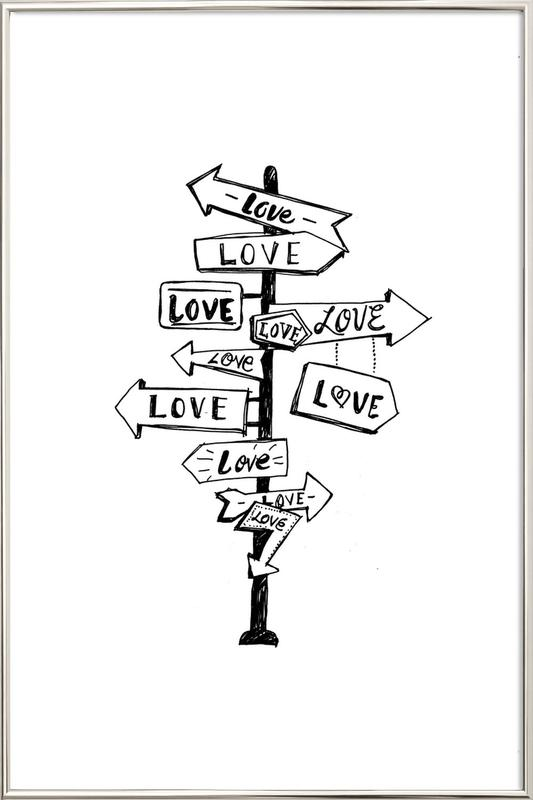 Love Trip Poster in Aluminium Frame
