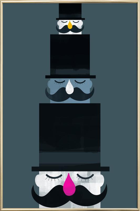 Magic Hat Poster in Aluminium Frame