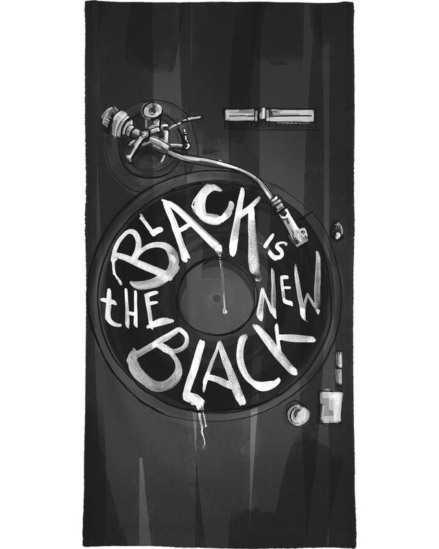 Black & White, Quotes & Slogans, New Black Beach Towel