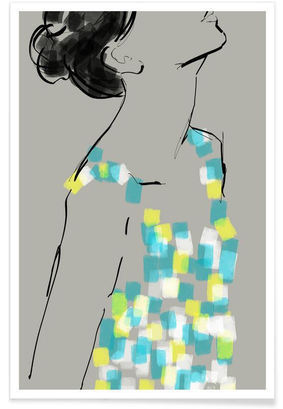 Modeillustration, New Dress -Poster