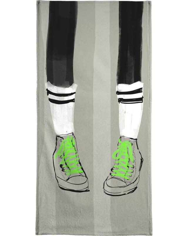 Illustrations de mode, New Shoes serviette de plage